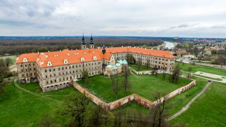 Lubiaz Abbey Poland with beaver roof tile